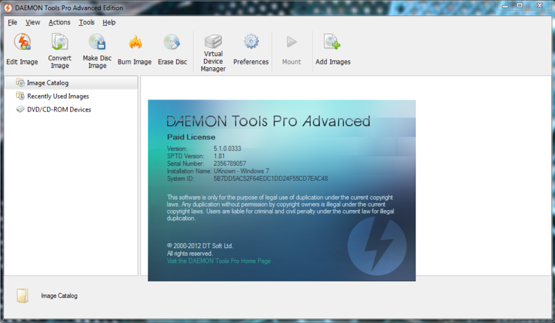 download serial number daemon tools pro